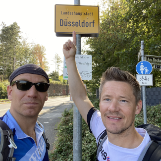 Jens and Flo - the Düsseldorf Sightrunners