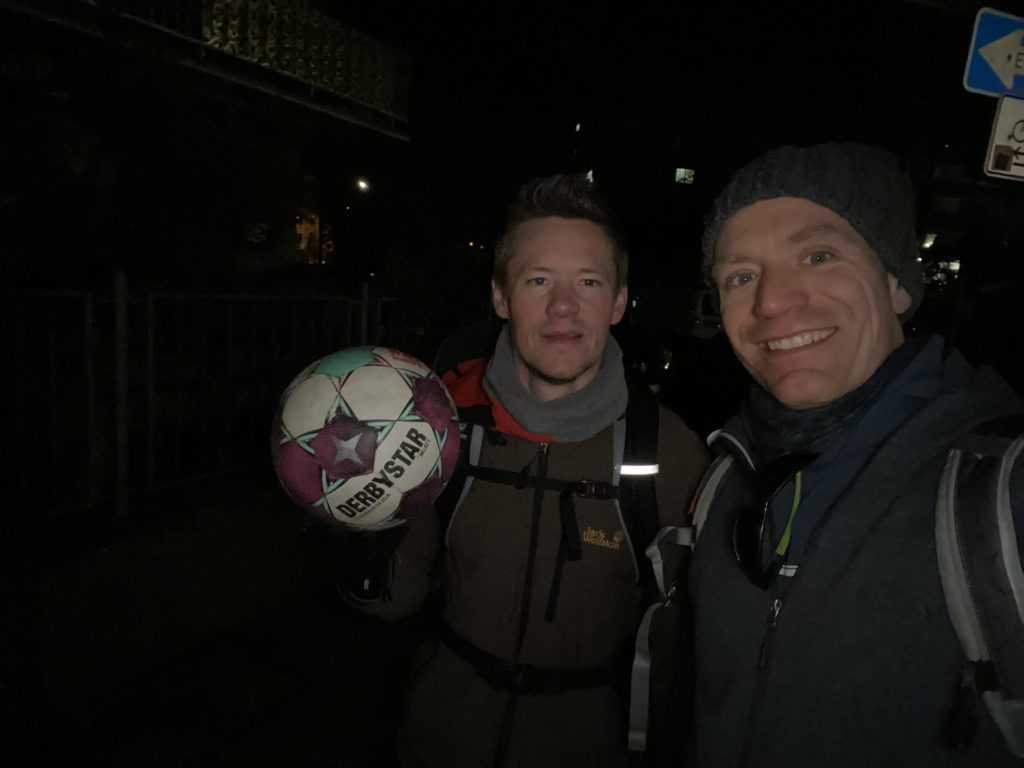 40 km hiking with ball - final picture
